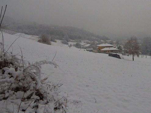La prima neve a Vallegioliti