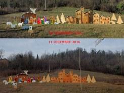 Il paese-presepe prima e dopo il palo